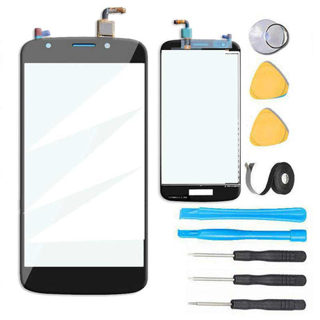 Motorola Moto E5 Play Glass Screen Replacement Premium Repair Kit XT1921-1, XT1921-2, XT1921-3, XT1921-5, XT1921-6, XT1921-7 - Black