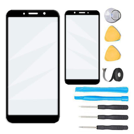 Motorola Moto E6 Play Glass Screen Replacement Premium Repair Kit - Black