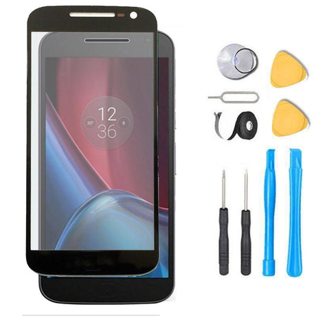 Moto G4 Glass Screen Replacement Premium Repair Kit G 4th - XT1620 XT1621 XT1622 XT1625  - Black