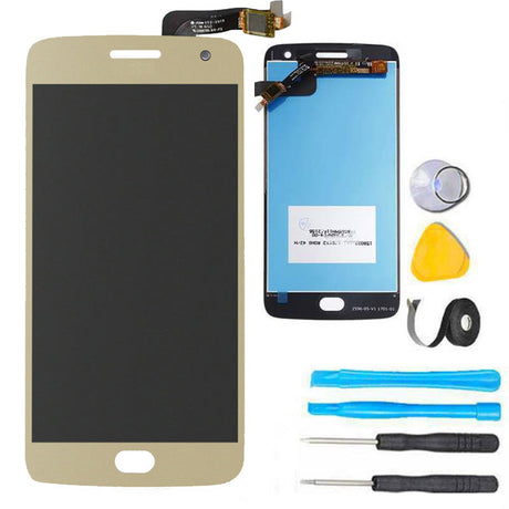 Moto G5 Plus Screen Replacement + LCD + Touch Digitizer Premium Repair Kit - Gold