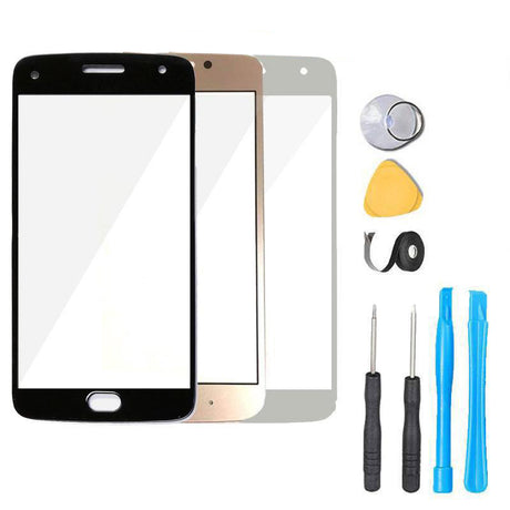 "Moto G5 Plus Glass Screen Replacement  Premium Repair Kit 5.2"" - XT1687 XT1684 XT1685 - Black / Gold / White"