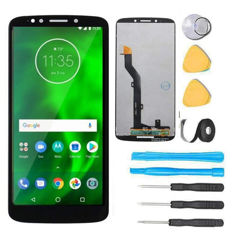 Motorola Moto G6 FORGE Screen Replacement LCD Glass Touch Digitizer Premium Repair Kit XT1922-2 XT1922-9 - Black