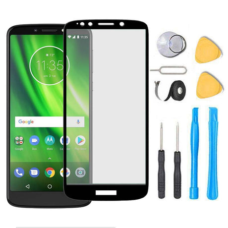 Moto G6 Play Glass Screen Replacement Premium Repair Kit XT1922  - Black