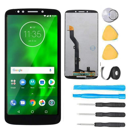 Motorola Moto G6 Play Screen Replacement LCD + Glass Touch Digitizer Premium Repair Kit - Black