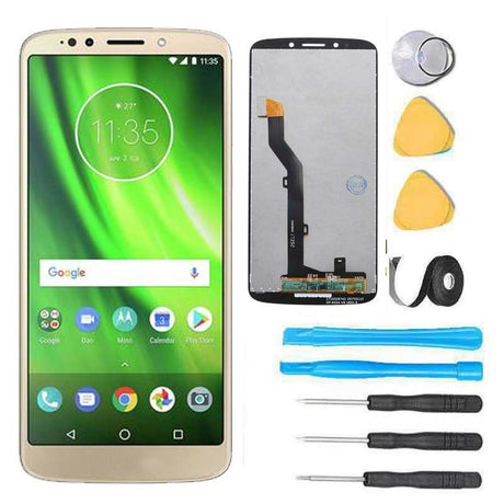 Motorola Moto G6 Play Screen Replacement LCD + Glass Touch Digitizer Premium Repair Kit - Gold