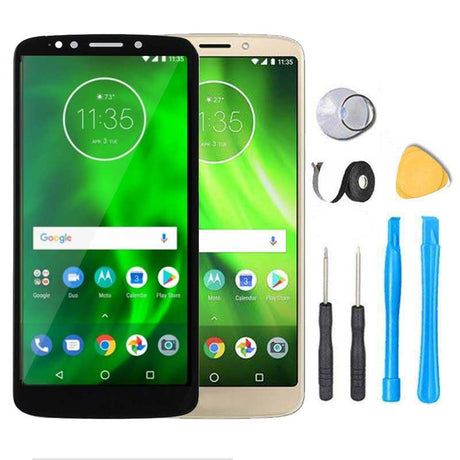Motorola Moto G6 Play Screen Replacement LCD + Glass Touch Digitizer Premium Repair Kit - Black Gold