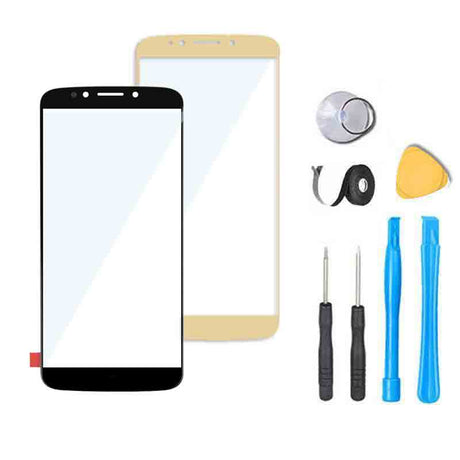 Motorola Moto G6 Play Glass Screen Replacement Premium Repair Kit XT1922  - Black  Gold Silver