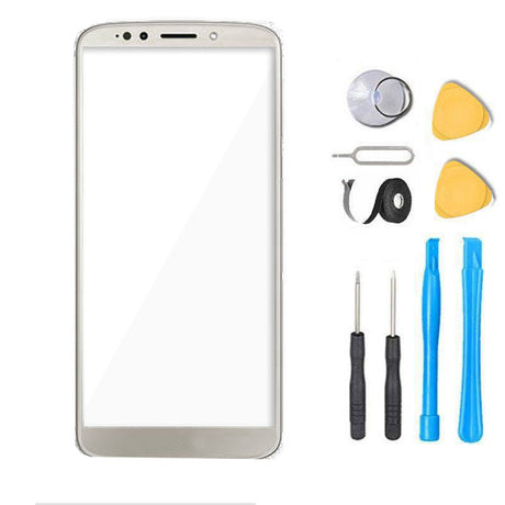 Moto G6 Play Glass Screen Replacement Premium Repair Kit XT1922  - Silver