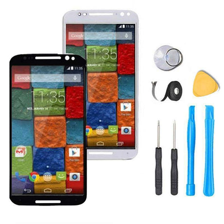 Moto x 2nd Gen Screen Replacement Glass and Digitizer Premium Repair Kit  - Black or White