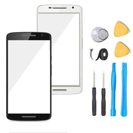 Motorola Moto X Play Glass Screen Replacement Premium Repair Kit XT1561 XT1562 XT1563   - Black / White