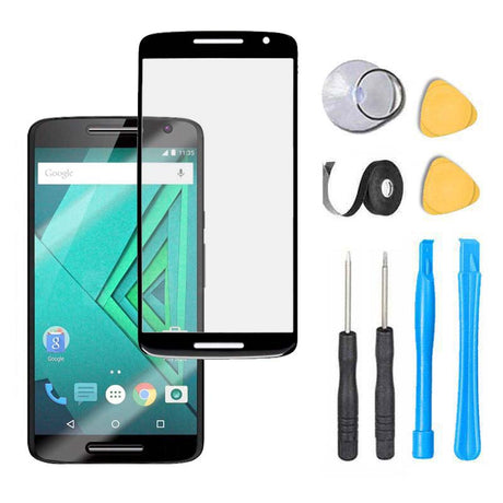 Moto X Play Glass Screen Replacement Premium Repair Kit  - Black