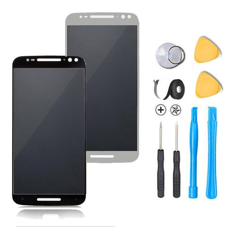 Motorola Moto X Pure Edition / Style Screen Replacement + LCD + FRAME + Touch Digitizer Premium Repair Kit  - Black or White
