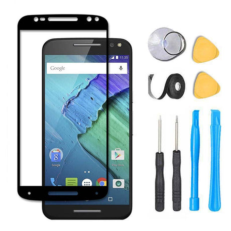 Moto X Pure Edition Glass Screen Replacement Premium Repair Kit - Black