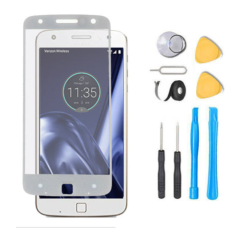 Moto Z FORCE Glass Screen Replacement Premium Repair Kit XT1650-2   - White