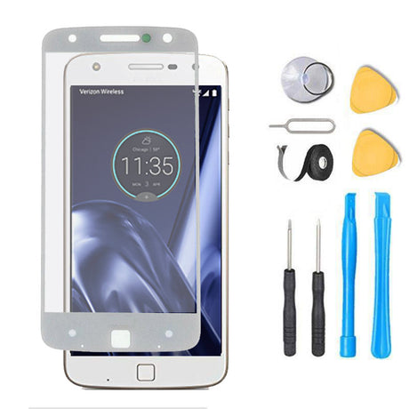Moto Z Play Glass Screen Replacement Premium Repair Kit XT1635   - White