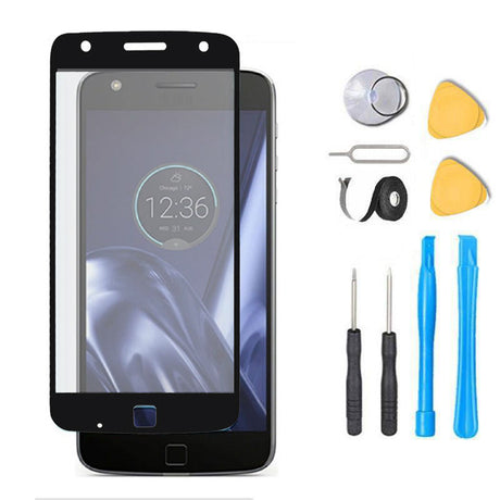 Moto Z FORCE Glass Screen Replacement Premium Repair Kit XT1650-2   - Black