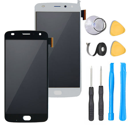 Motorola Moto Z2 Force Screen Replacement Glass LCD + Digitizer Premium Repair Kit XT1789 - Black or White