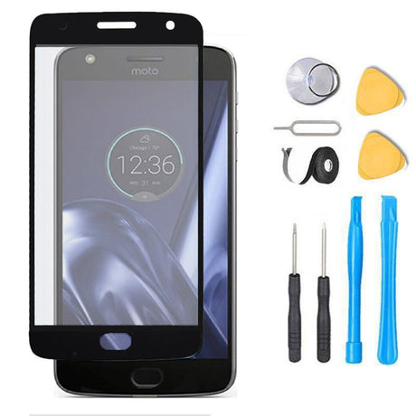 Moto G5 Plus Glass Screen Replacement  Premium Repair Kit  - Black