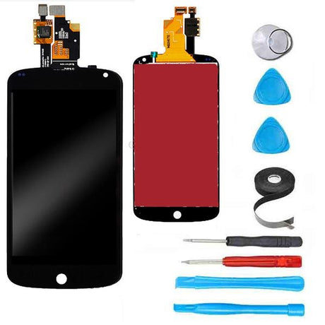 Google Nexus 4 Screen Replacement + LCD + Digitizer Premium Repair Kit  - Black