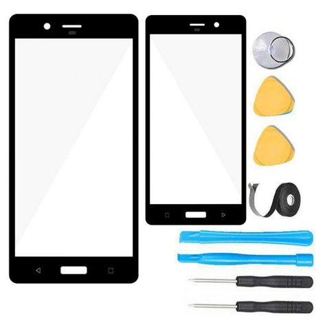 Nokia 8 Glass Screen Replacement Premium Repair Kit - Black