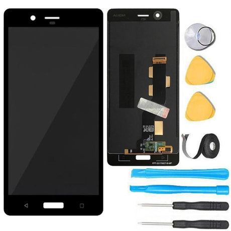 Nokia 8 Screen Replacement LCD + Digitizer Premium Repair Kit- Black