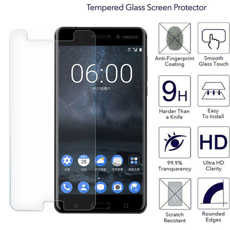 Premium Nokia 8 Tempered Glass Screen Protector