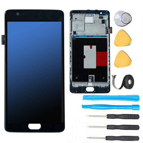OnePlus 3T Screen Replacement Glass LCD Digitizer + Frame Premium Repair Kit