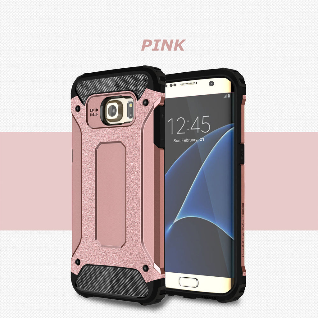 Rugged Armor Protective Hard Case Cover - Galaxy S7