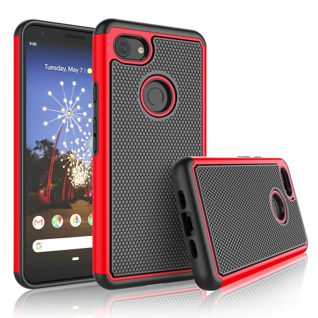 Google Pixel 3a Rugged Armor Protective Hard Case
