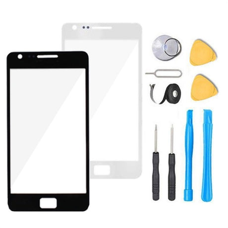 Galaxy S2 Glass Screen Replacement Premium Repair Kit i9100 T989 - Black or White