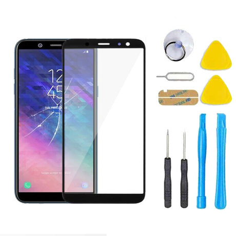 Samsung Galaxy A6 Glass Screen Replacement Premium Repair Kit 2018 SM-A600P A600T A600A A600DS A600G A600DS- Black