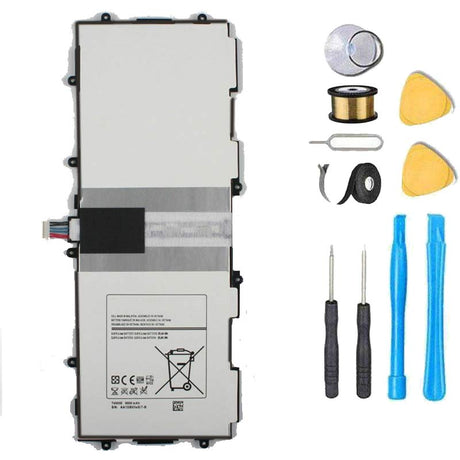 Samsung Galaxy Tab 3 10.1 Battery Replacement Premium Repair Kit with Flex Cable GT-P5200(3G & Wifi) GT-P5210(Wifi) Gt-P5220(LTE, 3G & Wifi) GT-P5213 P5210 P5200 P5220 P5213
