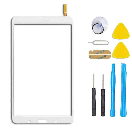 Samsung Galaxy Tab 4 Tab T337 T330 Screen Replacement + Touch Digitizer Replacement Repair Kit  - White