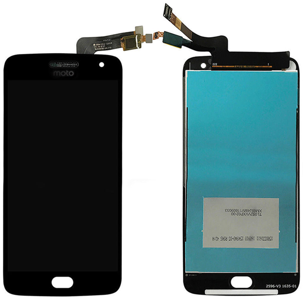 Moto G5 Plus Screen Replacement + LCD + Touch Digitizer Premium Repair Kit - Black Gold White