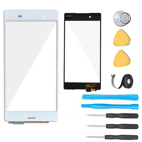 Sony Xperia Z3 Glass Screen Replacement + Touch Digitizer Premium Repair Kit D6603 D6616 D6643 D6653- White