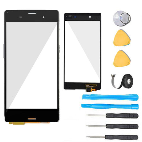 Sony Xperia Z3+ Plus Glass Screen Replacement + Touch Digitizer Premium Repair Kit E6553 E6533- Black