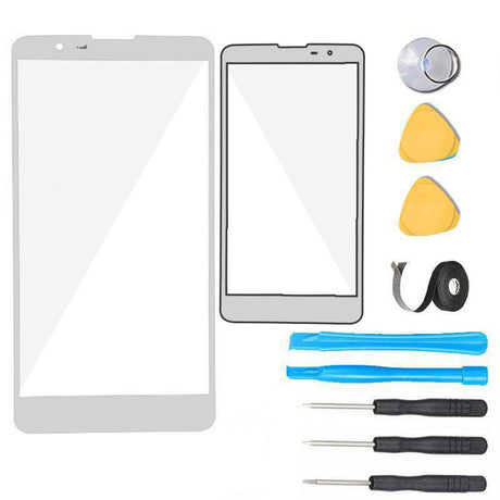 LG Stylo 3 Plus Glass Screen Replacement Premium Repair Kit TP450 MP450 M470 M740F LGMP450 - White