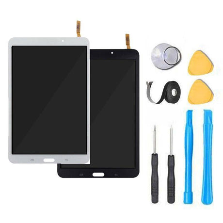 "Samsung Galaxy Tab 4 (8"") Screen Replacement + Touch Digitizer Replacement Repair Kit T337 SM-T337V SM-T337A SM-T330NU - Black or White"