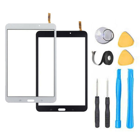 "Samsung Galaxy Tab 4 (8"") Glass Screen Replacement + Touch Digitizer Replacement Repair Kit T337 SM-T337V SM-T337A SM-T330NU - Black or White"