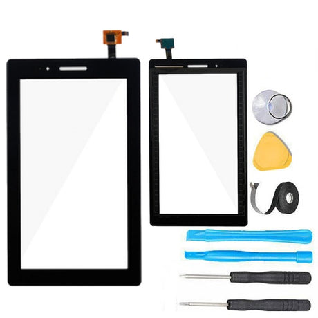 "Lenovo Tab 3 7"" Glass Screen Replacement + Touch Digitizer Replacement Premium Repair Kit  TB3-710F - Black"