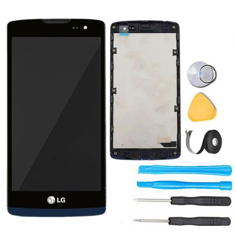 LG Tribute 2 Screen Replacement + LCD + FRAME + Digitizer Display Premium Repair Kit LC50 H340 H340AR H326T - Black