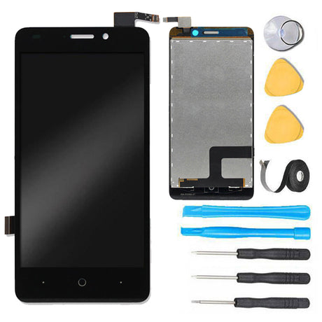 ZTE Avid Plus Glass Screen Replacement LCD + Digitizer Assembly Premium Repair Kit Z828 Z828L - Black