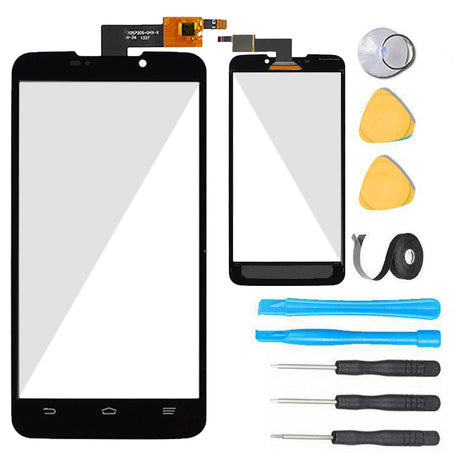 ZTE Boost Max Glass Screen Replacement + Touch Digitizer Premium Repair N9520 Kit- Black