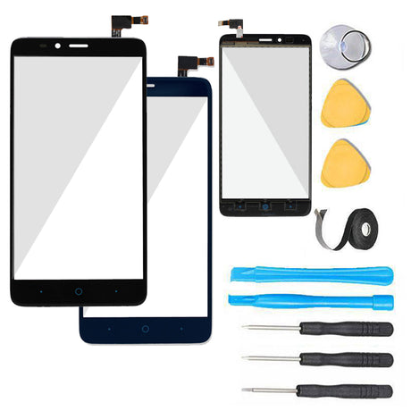 ZTE Grand X MAX 2 Glass Screen Replacement + Touch Digitizer Replacement Premium Repair Kit Z988 Z963 Z962 - Black or Blue