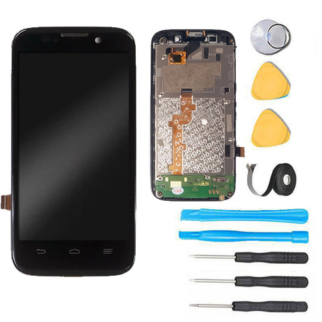 ZTE Majesty Screen Replacement LCD + Digitizer Assembly Premium Repair Kit Net10 Z796C - Black