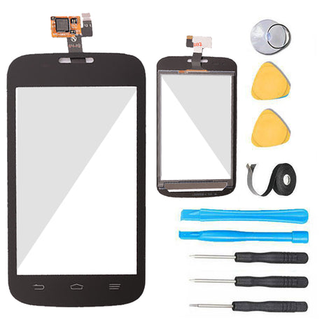 ZTE Concord 2 Glass Screen Replacement + Touch Digitizer Replacement Premium Repair Kit T-Mobile Z730 - Black