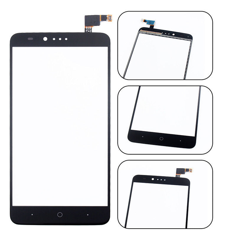 ZTE ZMAX Pro Glass Screen Replacement + Touch Digitizer Premium Repair Kit Z981-  Black