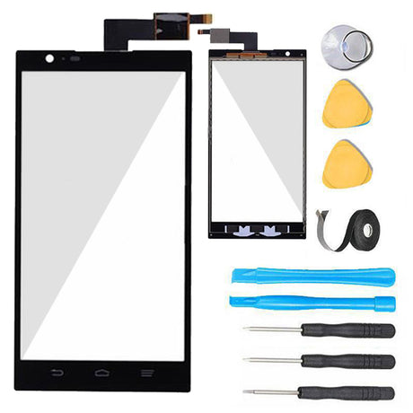 ZTE ZMAX Glass Screen Replacement + Touch Digitizer Premium Repair Kit Z970 -  Black
