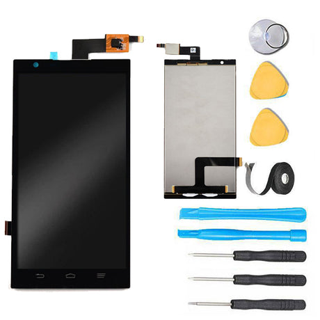 ZTE ZMAX Screen Replacement LCD Digitizer Assembly Premium Repair Kit Z970- Black