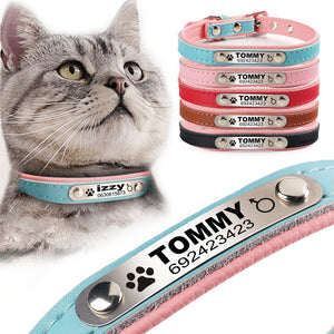 Personalized Pet Leather Collar ID Tag